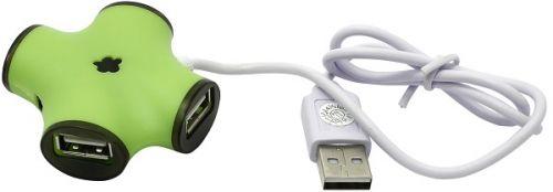 Концентратор USB 2.0 CBR CH 100 Green green, 4 порта