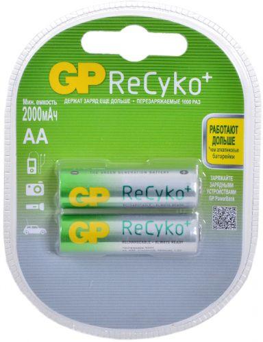 Аккумулятор GP Recyko 210AAHCB 1.2V, 2000mAh, 2шт, size AA, NiMH