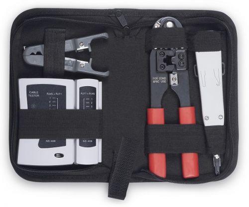 Набор инструментов Cabeus HT-TK-02 для заделки витой пары , зачистка, тестер