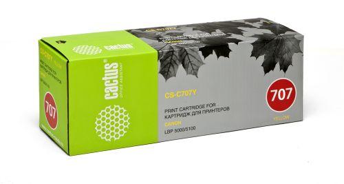 Картридж Cactus CS-C707Y для принтеров Canon LBP-5000, желтый