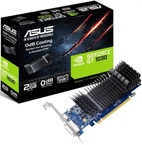 Фото - Видеокарта PCI-E ASUS GeForce GT 1030 2GB Silent Low Profile GDDR5 64bit 14nm 1228/6008MHz DVI-D(HDCP)/HDMI RTL видеокарта gigabyte geforce gt 1030 1227mhz pci e 3 0 2048mb 6008mhz 64 bit dvi 2xhdmi hdcp low profile gv n1030d5 2gl