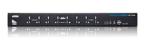 Переключатель Aten CS1788-AT-G switch, VGA/SVGA/DVI+KBD+MOUSE+AUDIO, 1> 8 портов/port USB, со шнурами USB DVI-D 2x1.8м