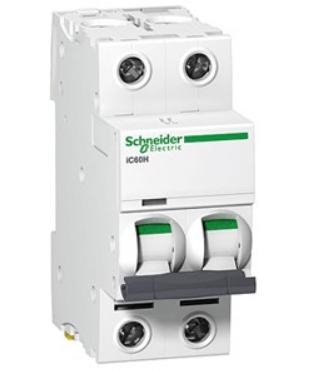 Автоматический выключатель Schneider Electric A9F79263 2P 63A (C)(серия Acti 9 iC60N) автоматический выключатель schneider electric ez9f34210 2p 10a c серия easy 9
