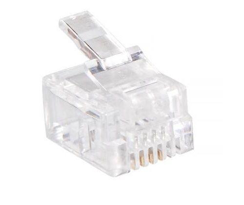 Разъем Buro TLUS-037 RJ-11 6p4c (упак.:100шт) коннектор rj 12 6p4c 100шт proconnect 05 1012 3