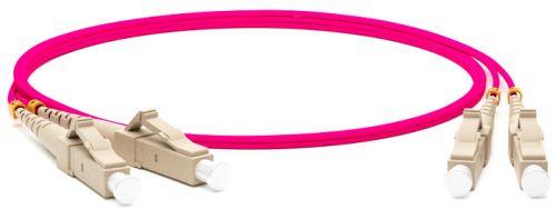 Кабель патч-корд волоконно-оптический Hyperline FC-D2-504-LC/PR-LC/PR-H-15M-LSZH-MG MM 50/125(OM4), LC-LC, duplex, 10G/40G, LSZH, 15м патч корд hyperline fc d2 62 lc pr lc pr h 2m lszh 2 м оранжевый