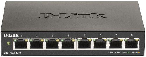Коммутатор D-link DGS-1100-08V2/A1A 8x10/100/1000, L2