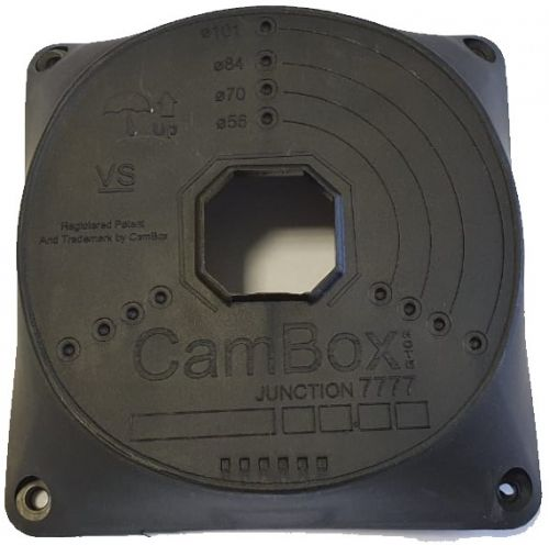 Коробка монтажная Cambox NX7-7777 (черный) для камер видеонаблюдения, черная