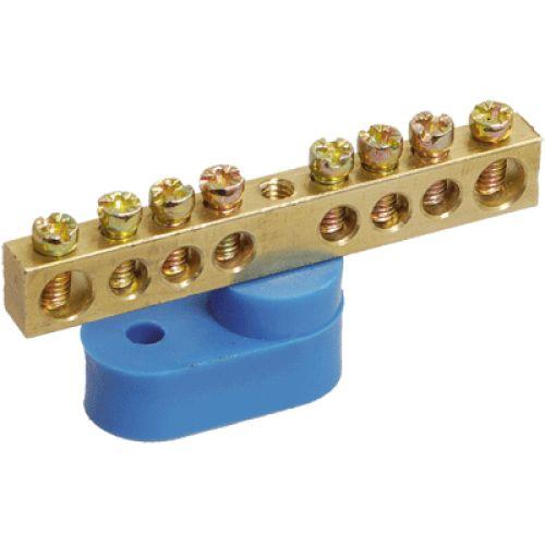 Шина IEK YNN10-69-12C1-K07 нулевая на 1 угловом изоляторе ШНИ-6х9-12-У1-С