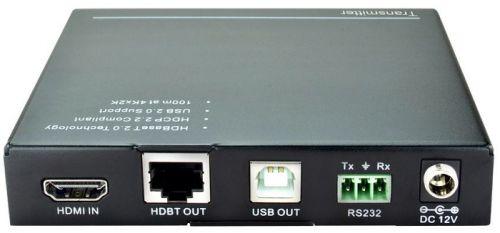 Комплект приемник и передатчик Digis EX-US100 HDMI + USB 2.0 через HDBT. 4K 60Hz 4:2:0, HDMI 1.4, EDID, HDCP 2.2, RS232, IR, PoC. 10,2 Гбит/с. 5е/6: 4