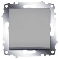 Выключатель ABB 619-011000-200 Cosmo одноклавишный, 10А, 250В, IP20 (алюминий) выключатель abb 619 011000 200 cosmo одноклавишный 10а 250в ip20 алюминий