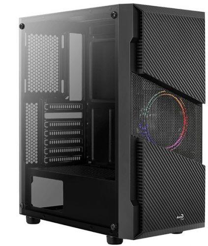 Корпус ATX AeroCool Menace Saturn FRGB 4710562752618 черный, без БП, с окном, 2*USB 3.0, audio корпус atx aerocool aero one frost g bk v1 4710562752328 черный без бп с окном 2 usb 3 0 audio