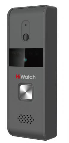 Вызывная панель HiWatch DS-D100P антивандальная, с камерой разрешением 720 х 576 и ИК-подсв до 2м, 4-х проводная схема, 12В DC (питание от монитора)