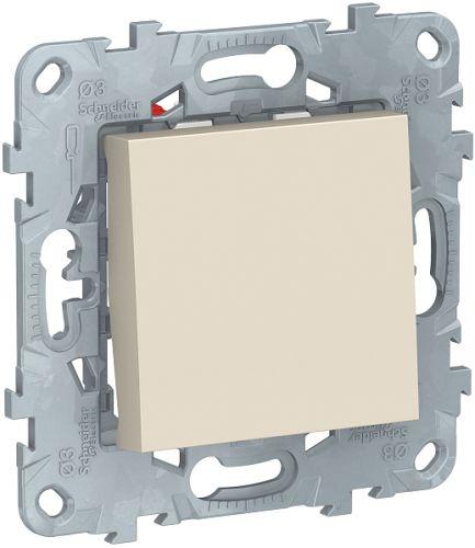Фото - Переключатель Schneider Electric NU520544 UnicaNew, беж, 1-клавишный, перекрестный, сх.7, 10 AX, 250В выключатель schneider electric nu520118 unicanew белый 1 клавишный сх 1 10 ax 250в