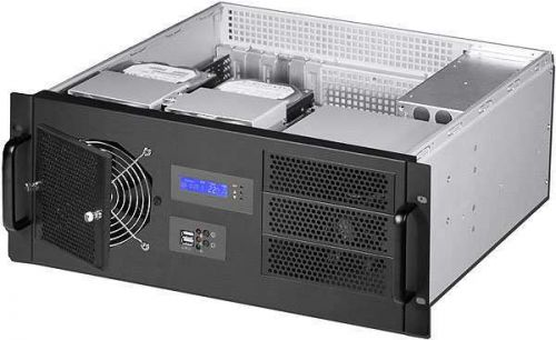 "Procase Корпус серверный 4U Procase GM438-B-0 8 (HDD). Глубина - 380мм. МП 12""x9.6"" ATX .560 * 530 * 265"