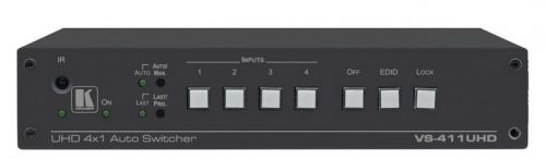 Коммутатор Kramer VS-411UHD 20-90051790 4х1 HDMI и аналогового аудио с автоматическим переключением; коммутация по наличию сигнала, поддержка 4K60 4:2