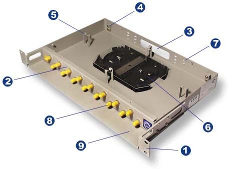 Vimcom - Кросс оптический стоечный Vimcom СКРУ-1U19-A8/16-FC/ST