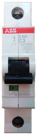 Фото - Автоматический выключатель ABB 2CDS251001R0034 S201 1P 3А (C) 6кA автоматический выключатель abb 2cds251103r0104 s201 1p n 10а с 6ка