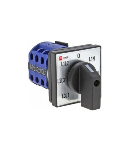 Переключатель EKF pk-1-64-10 кулачковый ПК-1-64 10А для вольтметра