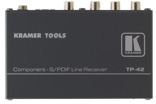 Приемник Kramer TP-42 90-700390 компонентного сигнала видео и сигнала аудио по витой паре, 0.3кг