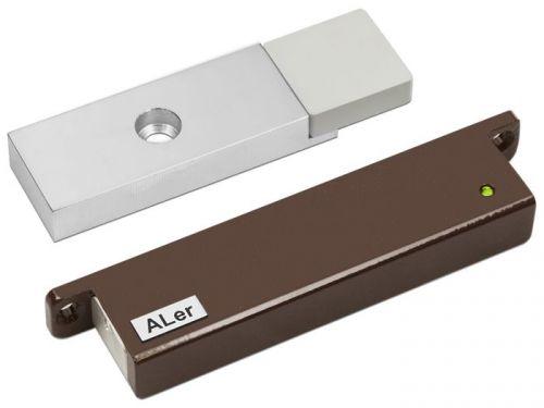 Замок ALer AL-150-24V Premium коричневый, сила удержания 150 кг, 24 В/0,15 А, датчик Холла, геркон, индикация