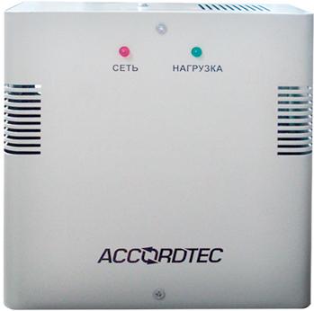 Источник бесперебойного питания AccordTec ББП-60 вторичный резервированный, 165…264 В, 6 А, под АКБ 12В 7 А/ч