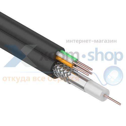 Фото - Кабель Rexant ККСВ-П + 4х0.5мм., 100м., черный 01-4022 кабель