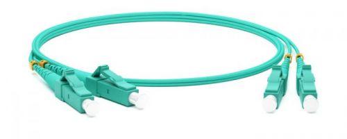 Кабель патч-корд волоконно-оптический Hyperline FC-D2-503-LC/PR-LC/PR-H-1M-LSZH-AQ ММ 50/125(OM3), LC-LC, duplex, 10G/40G, LSZH, 1 м 0 pr на 100