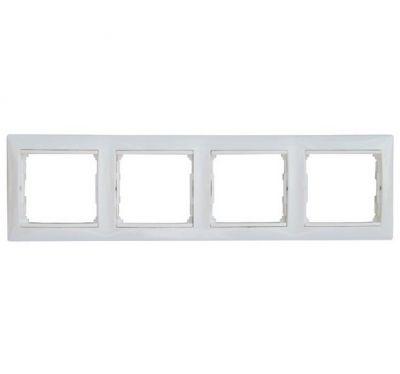Рамка Legrand 774454 Valena 4 поста горизонтальная, IP20, (белая)