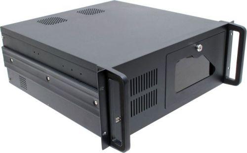 Корпус серверный 4U Procase EB445-B-0 черный, дверца, без БП, глубина 450мм, MB 12x9.6