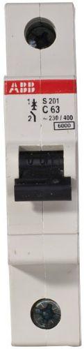 Фото - Автоматический выключатель ABB 2CDS251001R0634 S201 1P 63А (С) 6kA автоматический выключатель abb 2cds251103r0104 s201 1p n 10а с 6ка