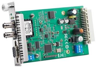 Преобразователь MOXA TCF-142-M-ST-RM RS-232/422/485 в многомодовое оптоволокно, разъем ST, бескорпусное исполнение