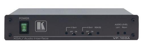 Преобразователь Kramer VP-100A 51-713720 компьют. графич. в RGBHV и небалансный стерео аудио сигналы, 0.6кг