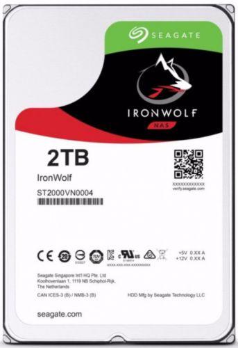 Жесткий диск 2TB SATA 6Gb/s Seagate ST2000VN004 3.5 IronWolf 5900rpm 64MB Bulk жесткий диск seagate ironwolf 3 tb st3000vn007