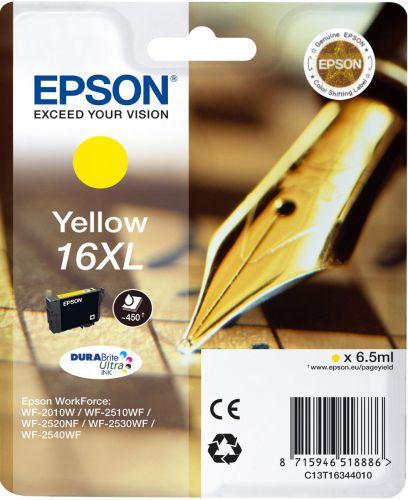 Картридж Epson C13T16344010/C13T16344012 16XL желтый повышенной емкости для WF-2010/WF-2510/WF-2540