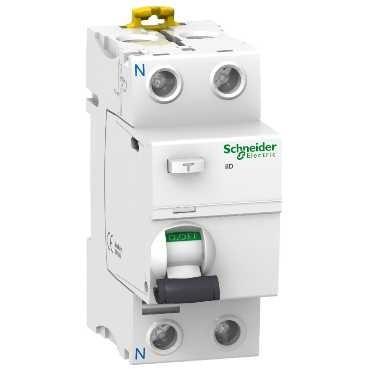 Фото - Выключатель Schneider Electric A9R41240 дифференциального тока (УЗО) 2п 40А 30мА АС выключатель schneider electric 11463 дифференциального тока узо 4п 40а 30ма вд63 ас серия домовой