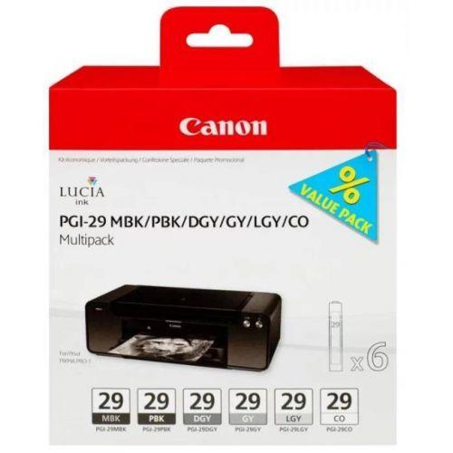 Картридж Canon PGI-29 MBK 4868B018 для PIXMA PRO-1, многоцветный, 6картриджей