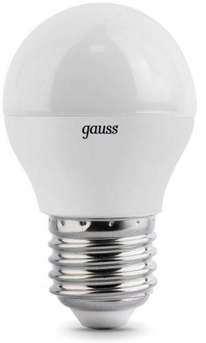 Лампа светодиодная Gauss 105102107 LED Шар E27 6.5W 520lm 3000K