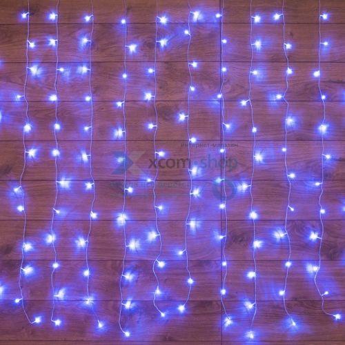 Гирлянда NEON-NIGHT 235-103 светодиодный дождь 2x0,8м, прозрачный провод, 230 В, диоды синие, 160 LED