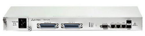 Шасси ELTEX TAU-32M.IP-M абонентского VoIP-шлюза TAU-32M.IP: 4 слота для субмодулей TAU32M-M8S или TAU32M-M8O, 3хRJ-45 (LAN), 2 шасси под SFP, 1 слот