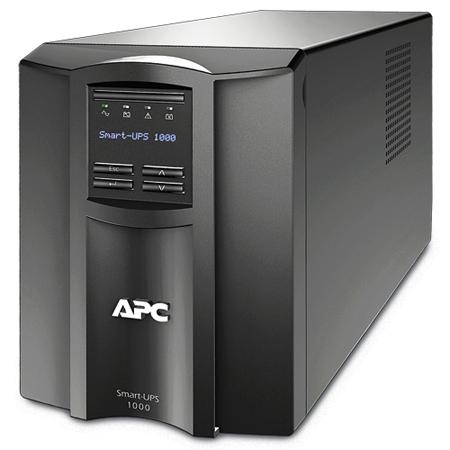 Источник бесперебойного питания APC SMT1000I 1000VA/700W, Line-Interactive, LCD, Out: 220-240V 8xC13 (4-Switched), SmartSlot, USB, COM, HS User Replac