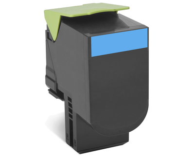 Картридж Lexmark 80C8HCE с тонером высокой ёмкости для CX310/410/510, голубой, Corporate (3K)