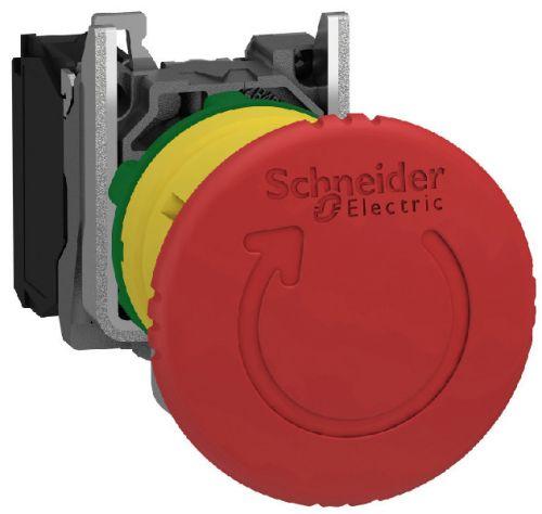 Кнопка Schneider Electric XB4BS8442 XB4 аварийного останова, возврат поворотом, 1НЗ, триггерного действия, металл