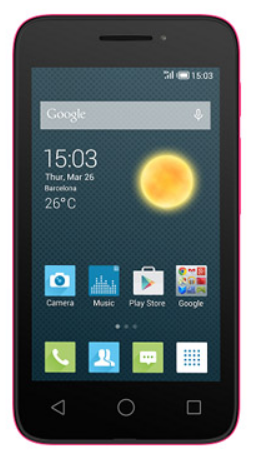 Alcatel OT4013D Pixi 3 (4) Black Pink