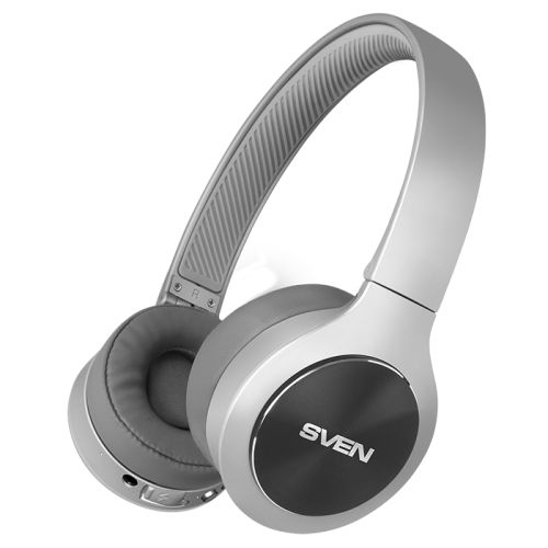 Наушники Sven AP-B580MV SV-018634 серый, беспроводные наушники с микрофоном