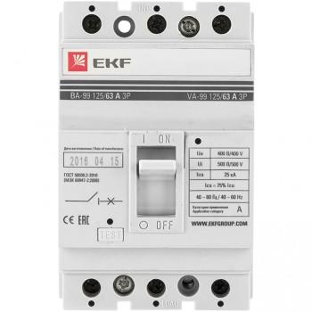Автоматический выключатель EKF mccb99-125-80 3п ВА-99 125/80А