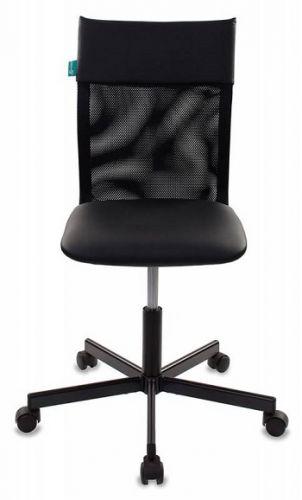 Фото - Кресло Бюрократ CH-1399 черное/черное, искусственная кожа, спинка сетка, крестовина металл кресло бюрократ ch 605 черное искусственная кожа крестовина металл