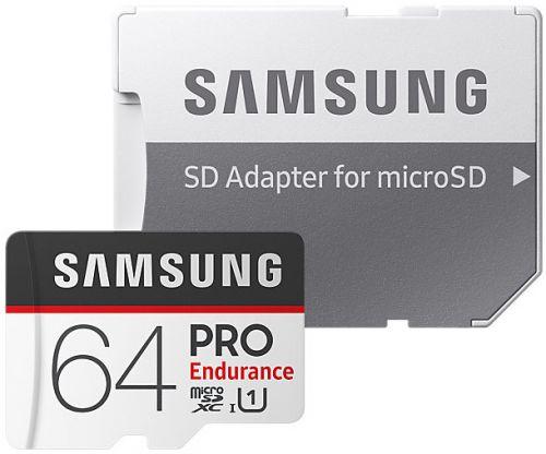 Фото - Карта памяти 64GB Samsung MB-MJ64GA/RU PRO Endurancе microSDXC Class 10, UHS-I U1 (SD адаптер) 30MB/s,100MB/s карта памяти samsung 64gb evo plus v2 microsdxc class 10 u1 sd adapter mb mc64ha