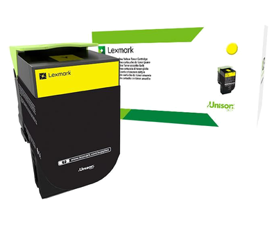 Картридж Lexmark 70C80Y0/70C80YE CS310/410/510 1K Желтый Return Program