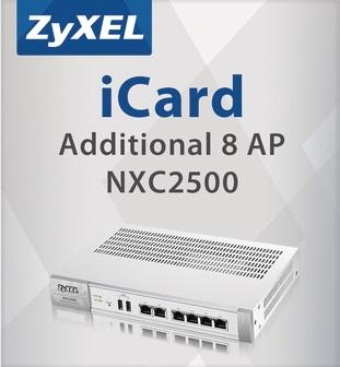 Карта подключения услуги ZYXEL LIC-AP-ZZ0003F E-ICARD 8 AP NXC2500 License