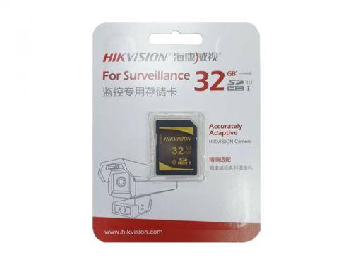Карта памяти 32GB HIKVISION HS-SD-P10/32G SDHC Class10 99MB/s/25MB/s для видеонаблюдения